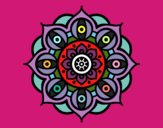 Desenho Mandala olhos pintado por alice5love