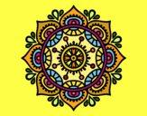 Desenho Mandala para relaxar pintado por Lemaro