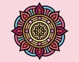 Desenho Mandala pontos de incêndio pintado por Lemaro