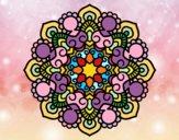Desenho Mandala reunião pintado por Lemaro