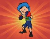Menino boxeador