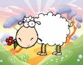 Ovelha com flor