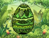 Ovo de Páscoacom teste padrão vegetal