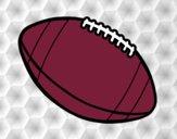 Bola de futebol americano.