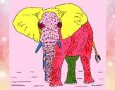 Desenho Elefante 1 pintado por luisserrao