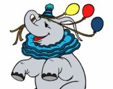 Elefante com 3 balões
