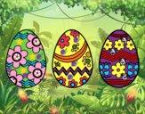 Três ovos de Páscoa