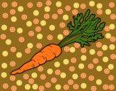 Desenho Cenoura ecológica pintado por cledna
