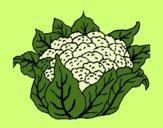 Desenho Couve-flor pintado por cledna