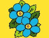 Desenho Flores 1 pintado por cledna