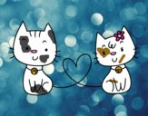 Gatos apaixonados