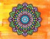 Desenho Mandala estrela decorada pintado por Lemaro