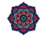 Desenho Mandala flor de la concentração pintado por luzinda