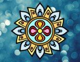 Desenho Mandala flor simple pintado por Lemaro
