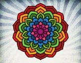 Desenho Mandala pétalas de flores pintado por luzinda