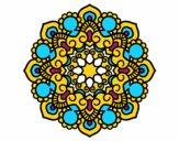 Desenho Mandala reunião pintado por luzinda