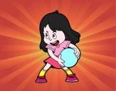 Menina com uma bola