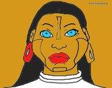 Desenho Mulher maia pintado por Thayanee
