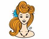 Desenho Penteado pin-up  pintado por HASTINGS