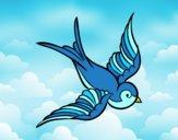Desenho Tatuagem de pássaro pintado por fernanda34