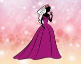 Desenho Vestido de casamento i véu  pintado por Amandin