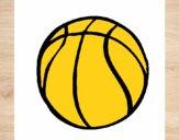 Desenho Bola de basquete pintado por panda