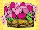 Desenho Cesta de flores 12 pintado por Sil
