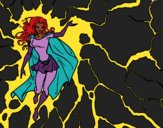 Desenho Heroína Tempestade pintado por luzinda