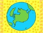 Desenho Planeta terra pintado por vitorcely