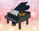 Desenho Um piano de cauda aberto pintado por ImShampoo