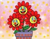 Desenho Vaso de flores pintado por Sil