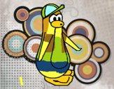 Pinguim com boné