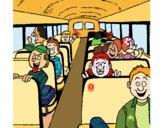 Desenho Autocarro escolar pintado por LLL321