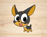 Desenho Cão chihuahua pintado por ImShampoo