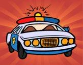 Desenho Carro de polícia pintado por LLL321