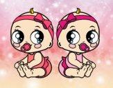 Desenho Gêmeos fêmea pintado por LLL321