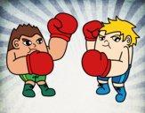 Desenho Luta de boxe pintado por LLL321