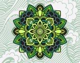 Desenho Mandala decorativa pintado por LLL321