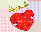 Menina e coração