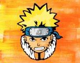 Desenho Naruto enfurecido pintado por luzinda