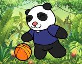 Desenho Panda com bola pintado por LLL321