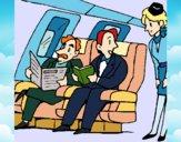 Desenho Passageiros no avião pintado por LLL321