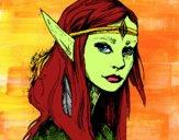 Desenho Princesa elfo pintado por MILHANI