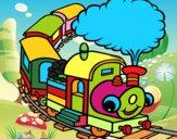 Trem sorridente