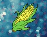 Desenho Um sabugo de milho pintado por aoze