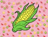 Desenho Um sabugo de milho pintado por 2016
