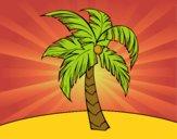 Desenho Uma palmeira pintado por Guiguinha9