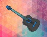 Desenho A guitarra espanhola pintado por luism