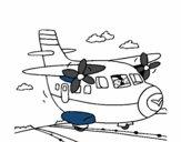 Avião a descolar