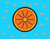 Desenho Fatia de laranja pintado por ImShampoo